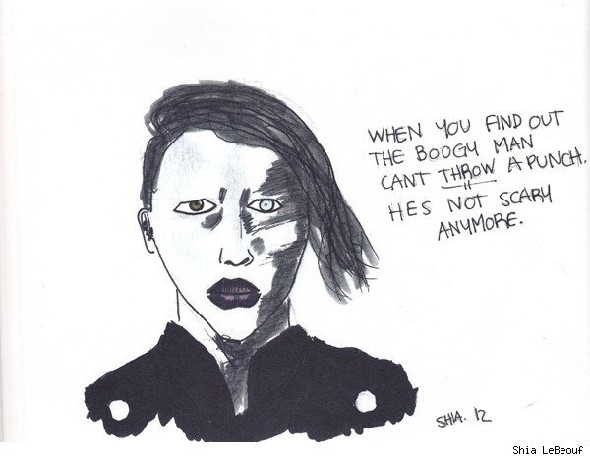 Shia LaBeouf comic Marilyn Manson